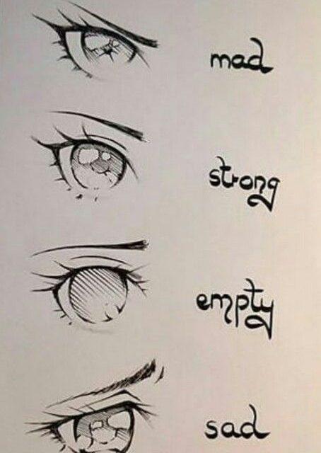 Inspirasi Cara Menggambar Mata Anime Ekspresi Wajah Sedih Marah