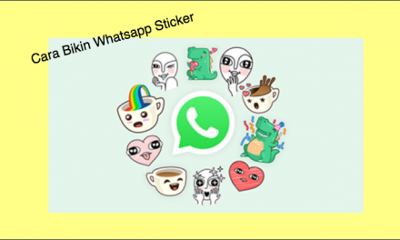 Cara Membuat Sticker Personal Whatsapp