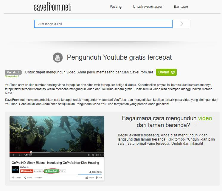 cara download video di youtube tanpa idm dan savefrom