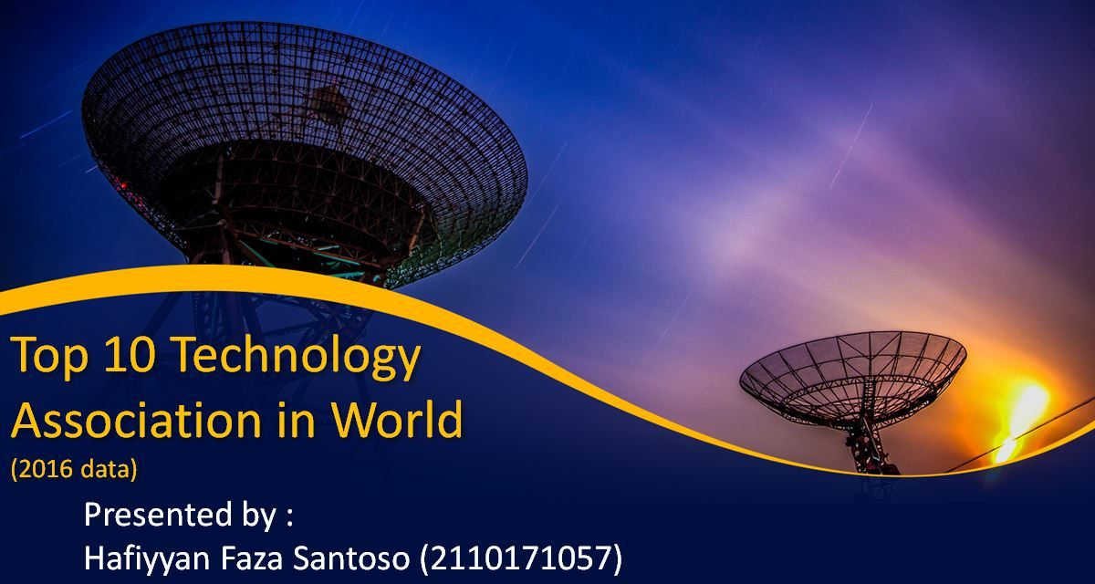 Top 10 Technology Association in World(2016 data) – Hafiyyan Faza Santoso – 2110171057