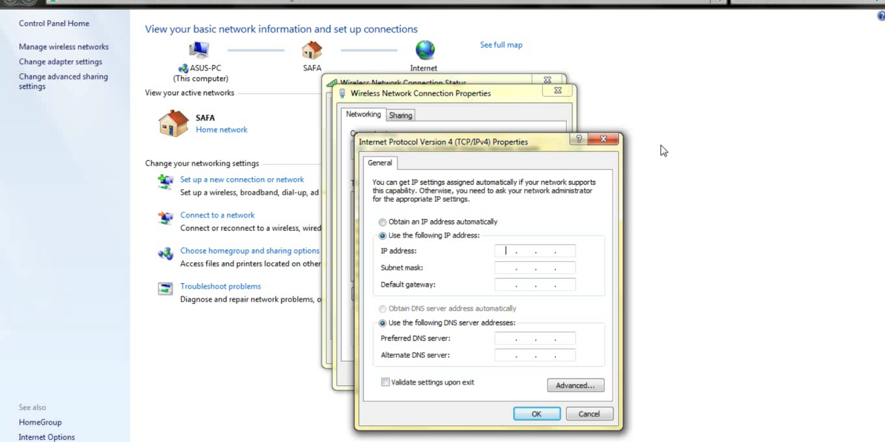 How to Change IP Address in Windows 7 – English Podcast – Muhammad Amien Prananto