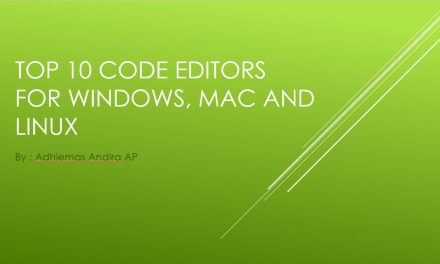 Top 10 Code Editor on Windows, Mac, and Linux English Podcast – Adhiemas Andira AP