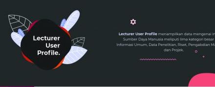 Tampilkan Kelengkapan Profil SDM dengan Lecturer User Profile