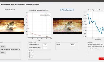 Pembuatan Simulasi Pengaruh Jarak Daya Pancar Terhadap Hasil Siaran TV Digital