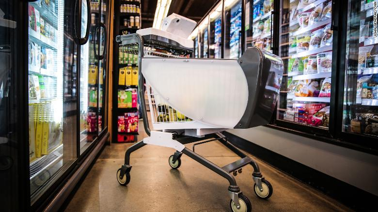 These smart shopping carts will let you skip the grocery store line