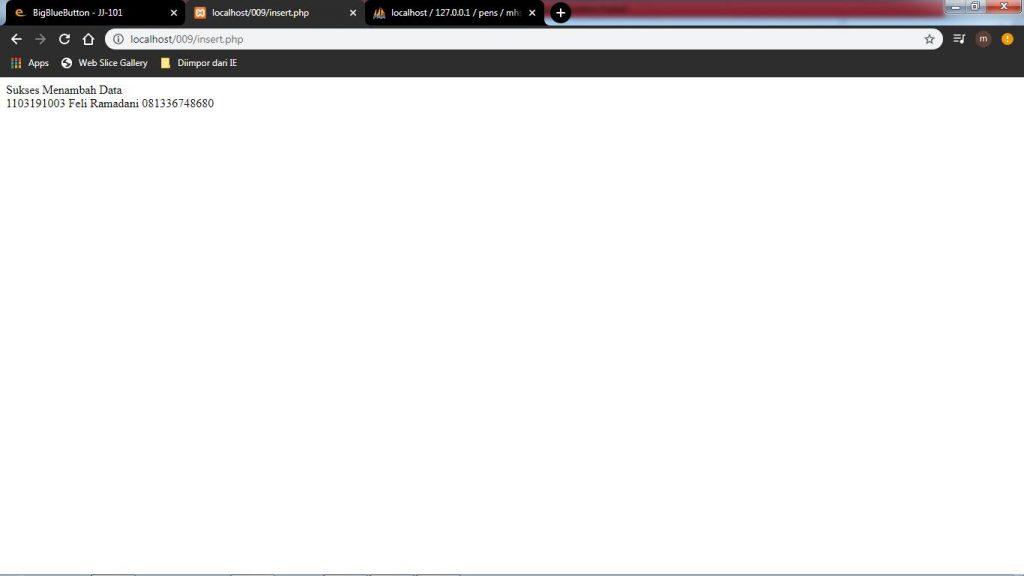 Description: C:\Users\roviqo\Pictures\VSC\Database menggunakan Form\5. Setelah di klik input.jpg